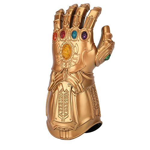 Kids Infinity Gauntlet Cosplay Thanos Arm LED Lights Up Gloves Toys Gift