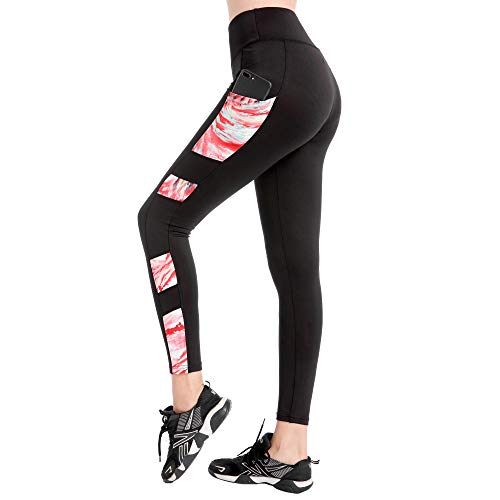 DSCX vrouwelijke yoga broek mode outdoor stretch yoga broek hoge taille stretch strakke hardloop joggingbroek sneldrogend ademend plus size
