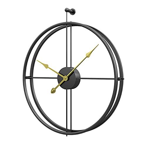 NOBGP Reloj de Pared de Hierro Redondo Simple, hogar Creativo Moderno Sala de Estar Reloj de decoración Reloj de Pared Personalizado, para decoración de hogar Sala de Estar