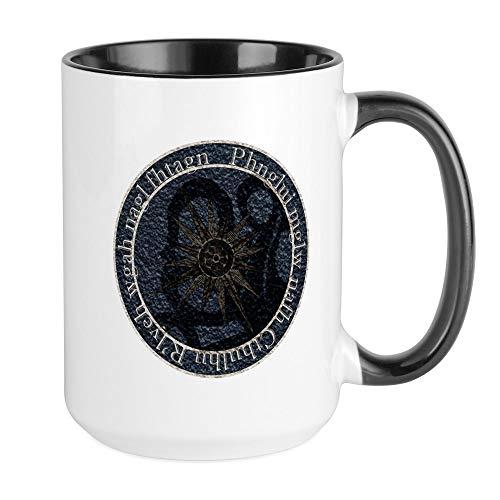CafePress–H.p. Lovecraft Miskatonic université–Mug à café, Large 15g Blanc Tasse à café Large White/Black Inside