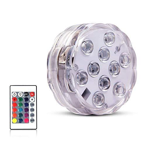 Gaocunh LED Schwimmleuchte 7 cm Fernbedienung RGB Wasserdicht Poolbeleuchtung LED Unterwasser Licht Teichlicht Badewanne Licht