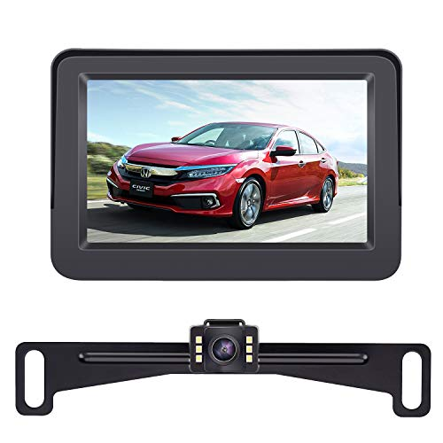 Auto Flush Mount Housing HD Rear//Front Camera Guide Lines On//Off Mirror Switch