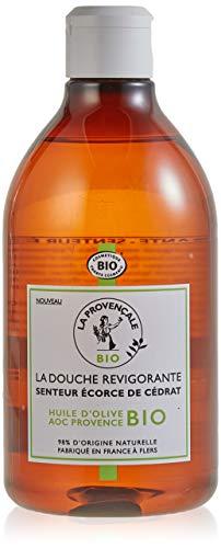 La Provençale - La Douche Revigorante Senteur Ecorce de Cédrat - Gel Douche Certifié Bio - Huile d'Olive Bio AOC Provence - 500 ml