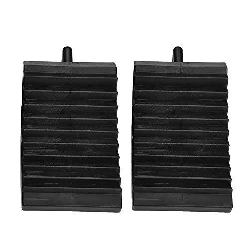 Calzos para ruedas de coche, par de calzos negros para ruedas para camión para reparar vehículos