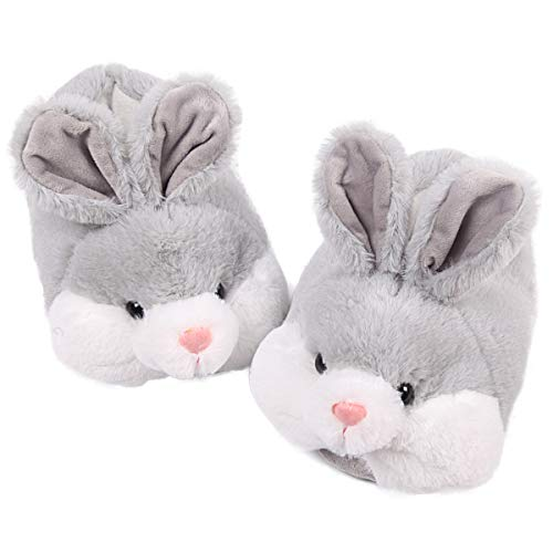 Classic Bunny Slippers Cute Plush Animal Rabbit Slippers Grey