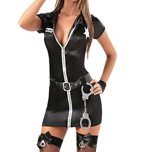 Saoye Fashion Donne Lingerie Cosplay Poliziotta Costume Trucco Partito Spettacolo Biancheria Intima Vestito Ballo Partito