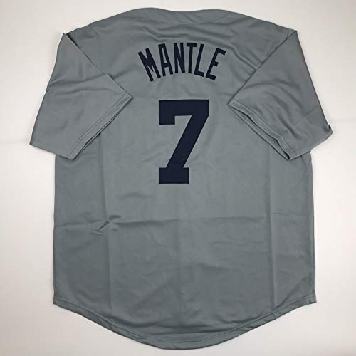 Unsigned Mickey Mantle New York Grey Custom Stitched Baseball Jersey Size Men's XL New No Brands/Logos