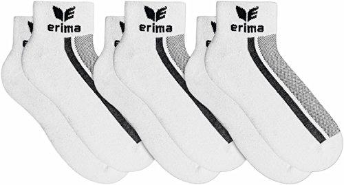 erima Stutzen & Socken 3-Pack Kurzsocken Stutzen und Socken, Weiß, 43-46