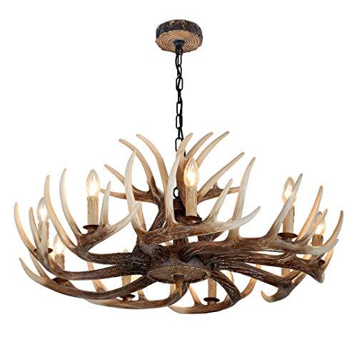 LCYFBE Lampadario antico del corno del cervo della lampada a sospensione creativa del ristorante del corno Camera da letto del ristorante del retro della cucina