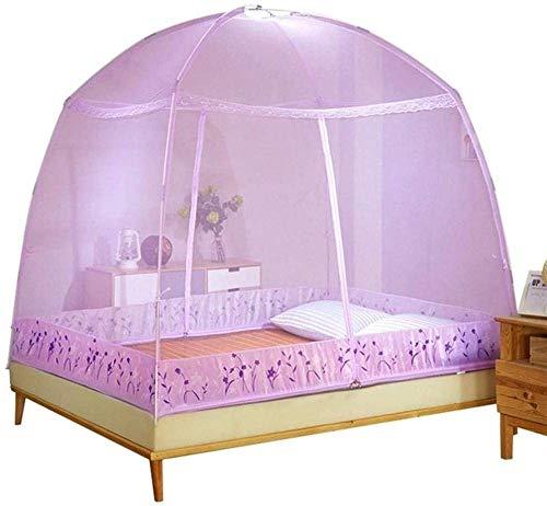 Kyman Mosquito Pliant Filets Foldedable Camping moustiquaire Moustiquaires Universal Chambre Home Textile Out Door Supplies-Medium_Pink (Color : Purple, Size : Small)