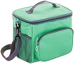 حقيبة غذاء معزولة وحقيبة مبرد للأطفال، والنساء والعمل، ونسيج أوكسفورد المقاوم للبقع، وحزام كتف قابل للتعديل، وحقيبة غذاء للسفر وحقيبة غداء من بينتو بوكس، لون أخضر