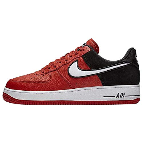 Nike Men's Air Force 1 LV8 Mystic Red/White/Black Leather Casual Shoes 11.5 M US