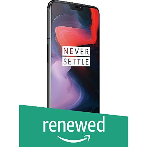 (Renewed) OnePlus 6 (Mirror Black, 6GB RAM, 64GB Storage)