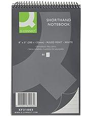 Q-Connect - Cuaderno de taquigrafía (rayado, 80 hojas, 20 unidades)