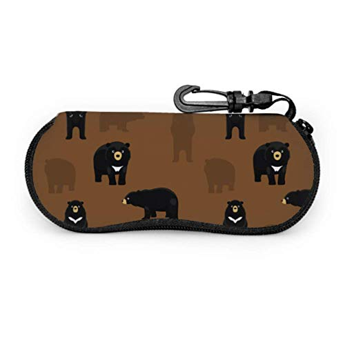 Bande dessinée mignon ours noir cravate animale étuis...