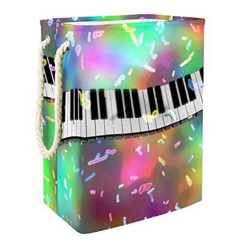 Cestas De Almacenamiento De Juguetes Teclas del piano Contenedores De Caja Para Juguetes Para Perros Juguetes Para Niños Ropa De Manta 49x30x40.5 cm