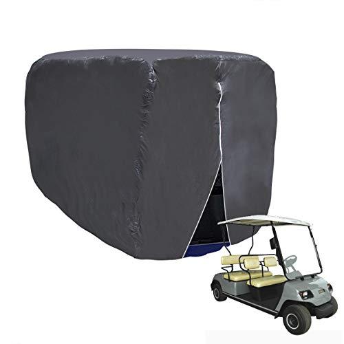 WISAMIC Golfwagen Abdeckung Abdeckplane 4 Passenger Golf Car Cart Cover für Yamaha Drive, EZ Go und Club Car, 285x122x168cm
