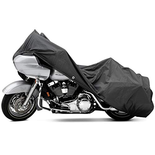 North East Harbor Motorcycle Bike Cover Travel Dust Storage Cover Compatible with Harley Davidson Dyna Glide Fat Bob Street Bob -  KapscoMoto, MC-GRY-XXL-V02