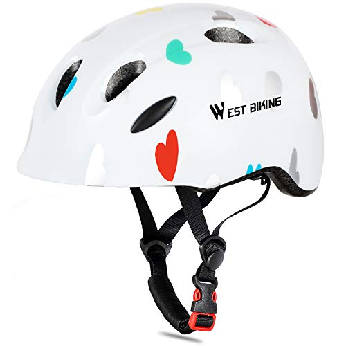 WESTLIGHT Fahrrad Helm Kinder,CPSC-Zertifiziert,Atmungsaktiv und Leicht Kinder Jugend Fahrradhelm für Mädchen Junge,Skateboard Kinder Kinderhelm Fahrradhelm für Fahrrad Skateboard 3-13 Jahr