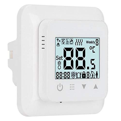 QITERSTAR Controlador de Temperatura con función anticongelante, termostato Digital de Material ABS de fácil instalación, Sistemas de calefacción eléctrica con Pantalla LCD para(WiFi)