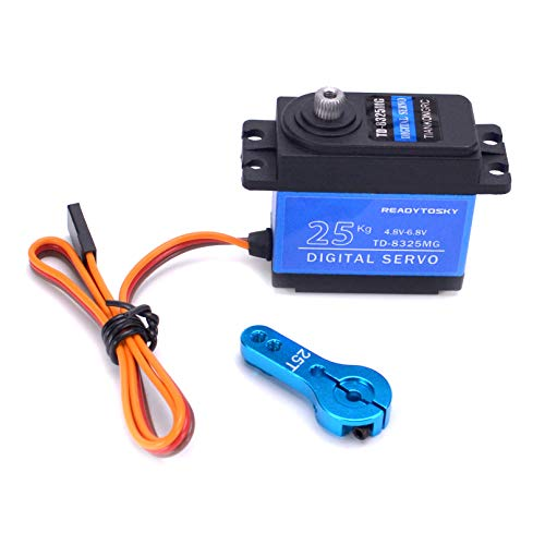 Readytosky RC 25KG Servo High Torque Metal Gear Servo 180 Degree for RC Traxxas HSP Car Boat Helicopter Robot Airplane