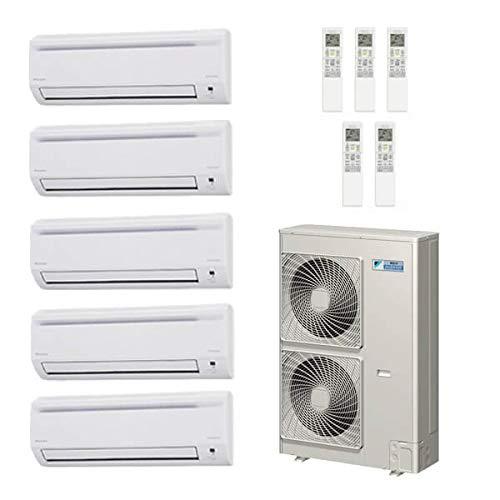 Daikin 40,000 Btu 18.8 Seer 5 - Zone Mini Split Heat Pump System - 7K-7K-7K-7K-12K