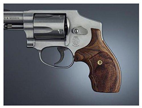 Hogue J Frame Round Butt Bantam PAU Ferro Checkered Gun Grips