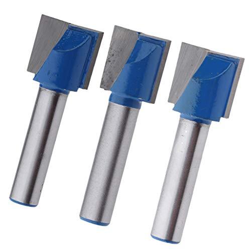 3pcs Nutfräser Fräser Nuter Freser CNC Gravur Holzbearbeitung, Zweischneidig, 8mm Schaft, Ø 15mm + 17mm+ 18mm