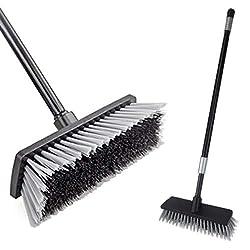 cheap LandHope Bristle Deck Broom Adjustable Long Handle Cleaning Brush High Performance Concrete Push…