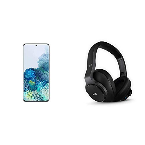 Samsung Galaxy S20+ 5G Factory Unlocked New Android Cell Phone US Version, 128GB of Storage, Cloud Blue & N700NC M2 Over-Ear Foldable Wireless Headphones, Black