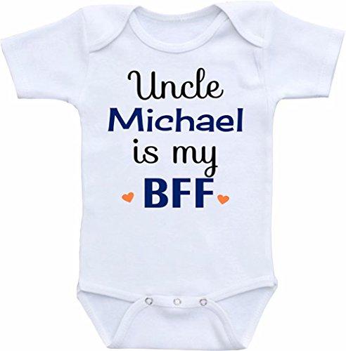 """Promini Divertido body personalizado con texto en inglés """"My Uncle is My BFF"""""""