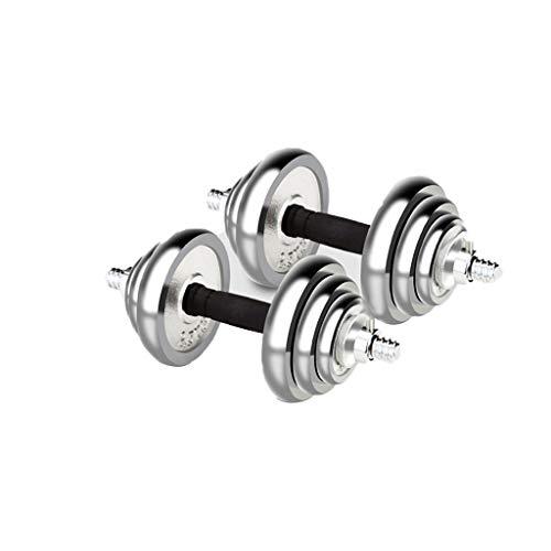 WYH Pesas Mancuernas Pesas Pesas Barra Conjunto Ajustable con Mancuernas for Entrenamiento de Fuerza Entrenamiento de La Aptitud De Peso Gimnasio con La Biela Musculación (tamaño : 15Kg(7.5Kg*2))