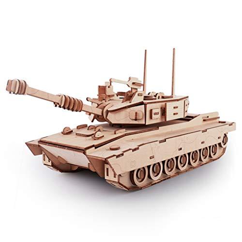 GuDoQi 3D Holz Puzzle, Modell Panzer, Holzbausatz Tank zu Bauen, DIY Montage Holzpuzzle Spielzeug, Bastelset, Geburtstags Geschenk aus Holz fur Erwachsene Männer Jugendliche