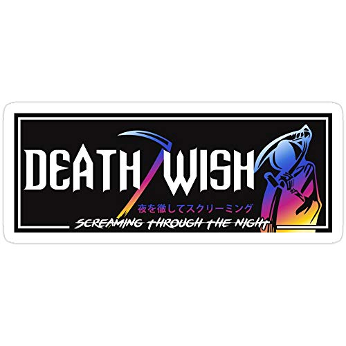 Vijk kor Death Wish JDM Slap Neo-Aufkleber, 3 Stück