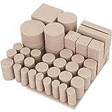Filz Gleiter selbstklebend 357PCS, Wukong Möbelschoner Filzgleiter Pads 5 mm Dicke für Holzfußboden Möbel Stühle und Tische Beige