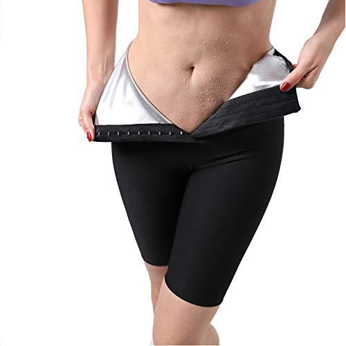 N\P Body Shaper Sweat Pants Sweat Shapers Hot Sauna Effect Pantalones adelgazantes Fitness Perder Peso Entrenamiento Gimnasio Leggings Pantalones de Fitness