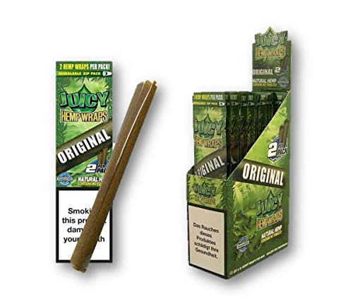 OCB Juicy Jay's Hemp Wraps ORIGINAL Flavour Natural Hemp Rolling Wraps Zigarettenhüllen Smoking Wraps Packung mit 50 stücke from Sudesh Enterprises (2 Pieces per Pack)