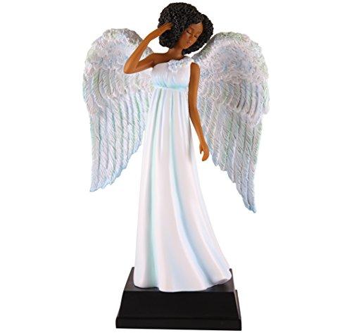 "African American Expressions - Light Blue Angel Polyresin Figurine (5.5"" x 2.75"" x 8.75"") FAN05"