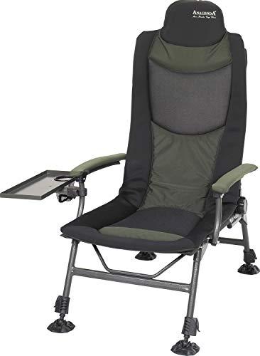 Anaconda Unisex– Erwachsene Moon Breaker Carp Chair (Karpfenstuhl/Campingstuhl), Schwarz-Grau-Grün, Sitzfläche: ca. 54 x 53 cm