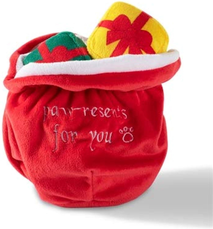 Pet Shop by Fringe Studio Santa's Bag of Gifts Plush Dog Toy