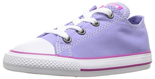 Converse Kids' Chuck Taylor All Star Seasonal Canvas Low Top Sneaker, Twilight Pulse/Hyper Magenta, 6 M US Big Kid