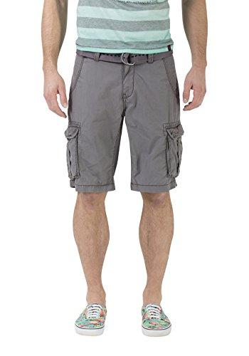 Timezone Timezone Herren Loose Maguire incl. Belt Shorts, Grau (Beluga Grey 9162), W31