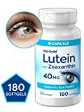 Best Eye Supplements - Carlyle Lutein 40 mg with Zeaxanthin 180 Softgels Review