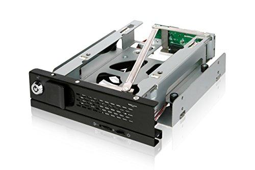 ICY DOCK SATA Hot Swap Wechselrahmen für 3,5 Zoll (8,9cm) HDD - Trägerlos Vollmetall 80mm Lüfter TurboSwap MB171SP-B