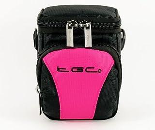 El TGC rosa y negro Compact para el hombro bolsa de transporte para cámara Samsung WB800F
