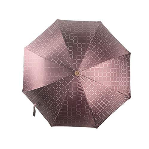 GNNHY zwarte lijm bergbeklimmen krukken paraplu, versterking zonwering zon bescherming uittrekbare riet paraplu voor klimmen, wandelen, opknoping op regen