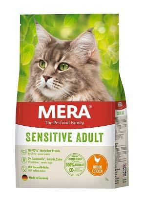 MERA Cats Sensitive Huhn - Trockenfutter für ausgewachsene Katzen - getreidefrei & nachhaltig - Katzentrockenfutter mit hohem Fleischanteil - 2 kg