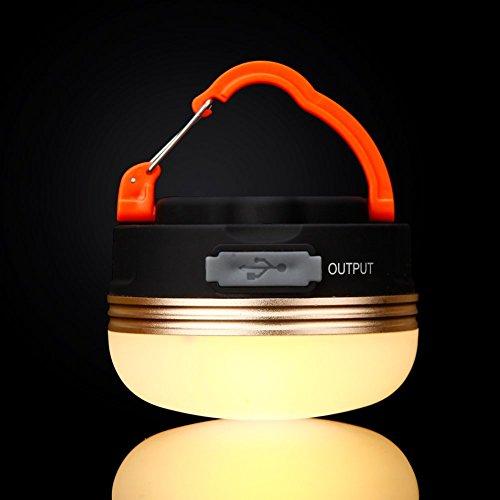 Portable Rechargeable LED Lanterne de Camping Tente d'urgence Lampe résistant à l'eau avec Aimant et Crochet pour Jogging randonnée intérieur/extérieur à l'aide