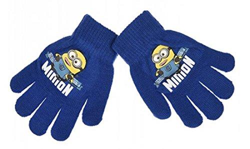Handschuhe für Kinder, Jungen, Minions, 3 Farben, Einheitsgröße (3/8 Jahre) blau dunkelblau einheitsgröße