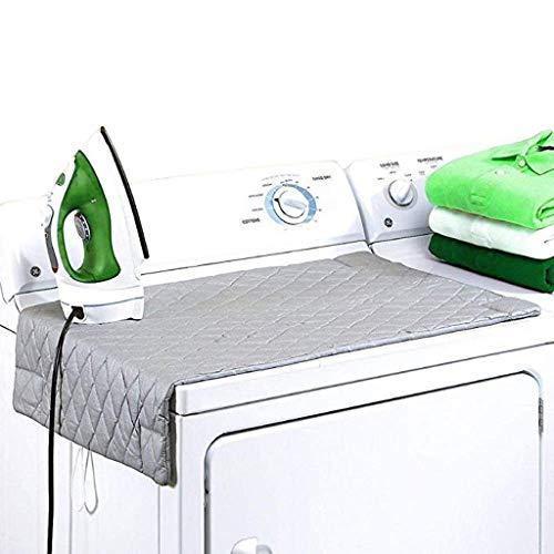 Bügelbrett mit Magnet, Thermo Bügeltischauflage Magnetisch Bügeln Matte für Trockner 48 × 85 cm Tischbügeldecke Hitzereflektierende Bügelunterlage Hitzebeständige Bügeltischdecke Bett